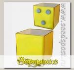 Кашпо Миникуб Желтый на магните, 0,16 л