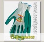 Перчатки LISTOK, нейлон с нитриловым покрытием, зеленый, L