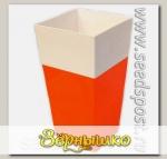 Кашпо Дуэт с фитильным поливом Оранжевый-белый, 1,8 л