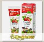Зубная паста детская BINTURONG STRAWBERRY с ароматом клубники с 3 лет, 50 г