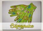 Перчатки LISTOK, нейлон с нитриловым покрытием салатовый, S