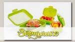 Контейнеры для закусок DINO (зеленые), 3 шт.